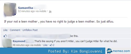 No right to judge