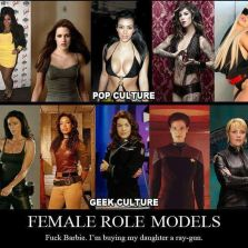 Female role models geek vs pop culture