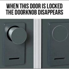 Cool door knob lock invention